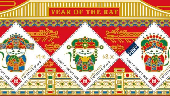 """加拿大等世界各国邮政共庆中国农历鼠年新年 纷纷发行""""鼠票""""639.png"""