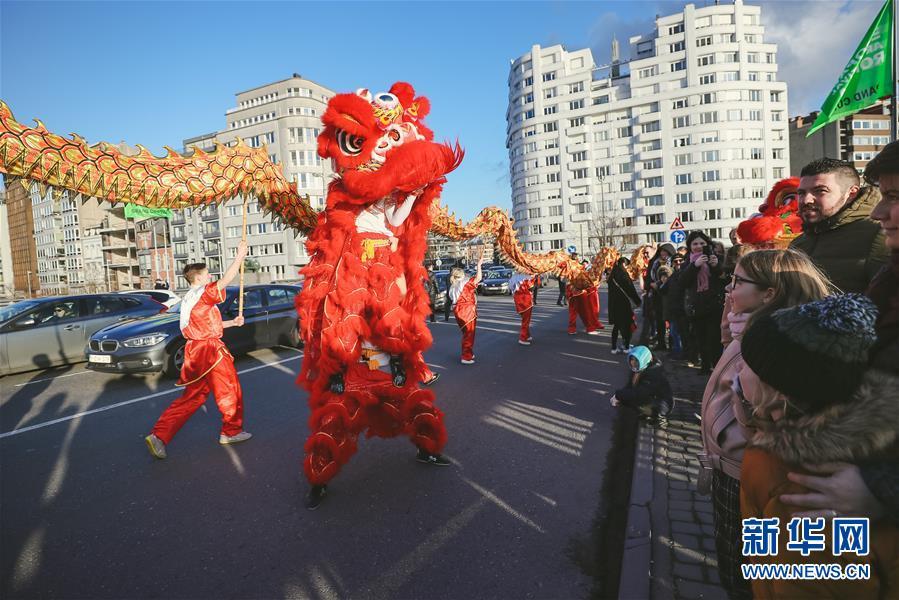 """(国际)(3)比利时举办""""欢乐春节""""农历新年庆祝活动"""
