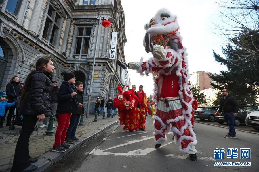 """(国际)(6)比利时举办""""欢乐春节""""农历新年庆祝活动"""