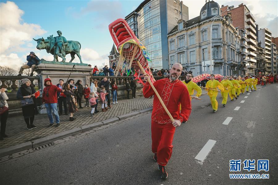 """(国际)(5)比利时举办""""欢乐春节""""农历新年庆祝活动"""