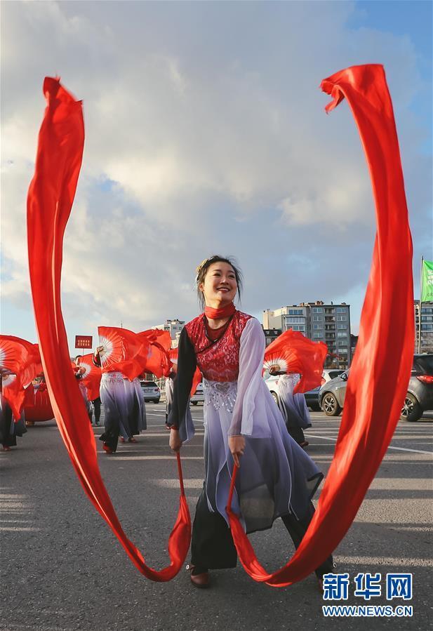 """(国际)(8)比利时举办""""欢乐春节""""农历新年庆祝活动"""