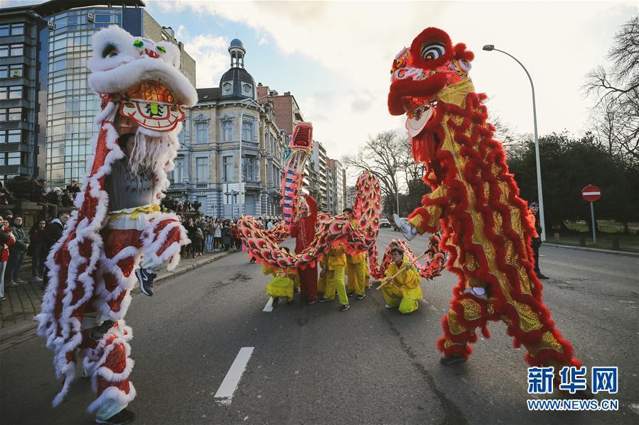 """(国际)(7)比利时举办""""欢乐春节""""农历新年庆祝活动"""