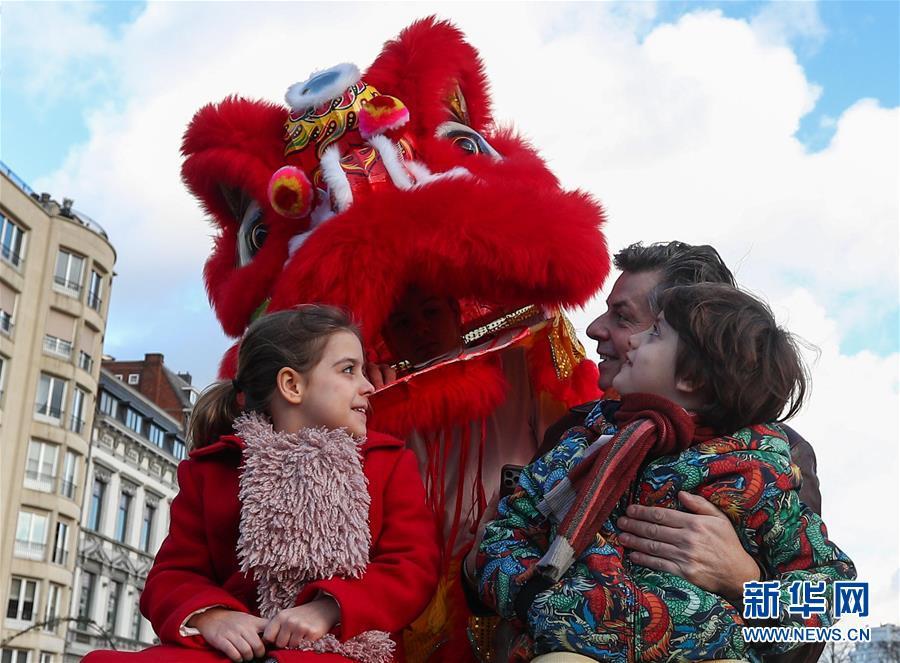 """(国际)(11)比利时举办""""欢乐春节""""农历新年庆祝活动"""