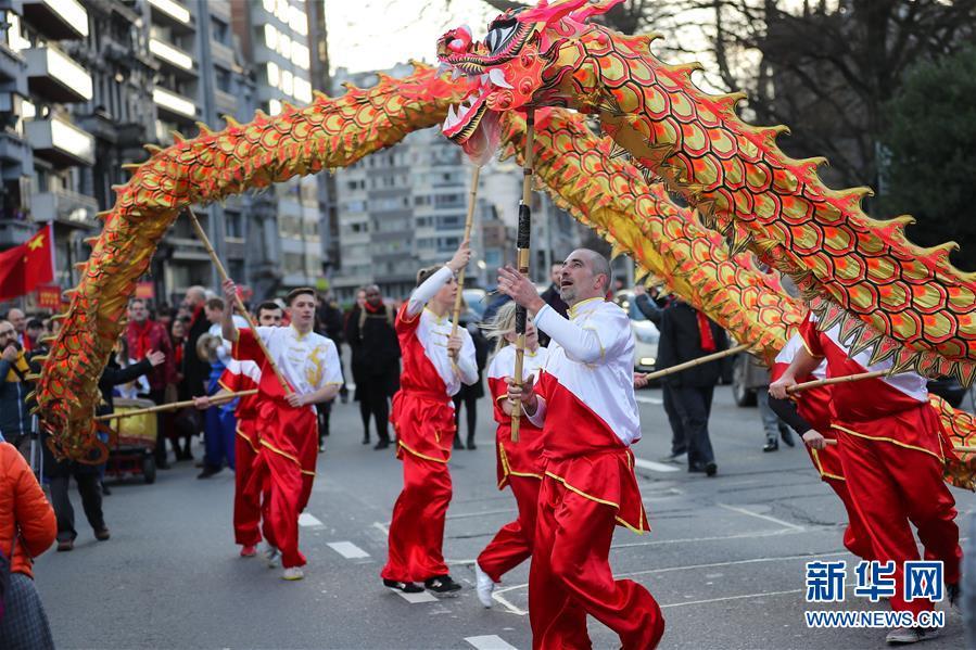 """(国际)(10)比利时举办""""欢乐春节""""农历新年庆祝活动"""