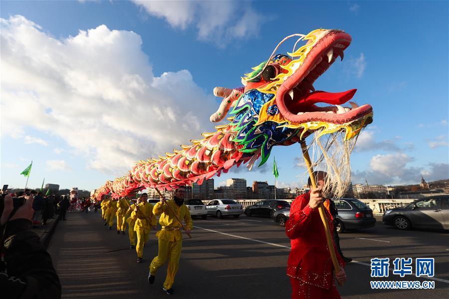 """(国际)(12)比利时举办""""欢乐春节""""农历新年庆祝活动"""