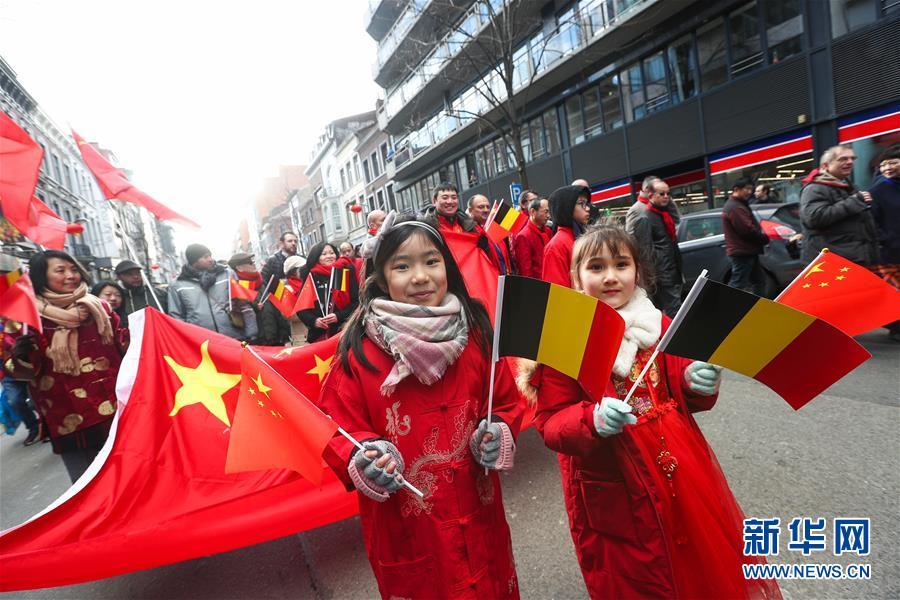 """(国际)(13)比利时举办""""欢乐春节""""农历新年庆祝活动"""