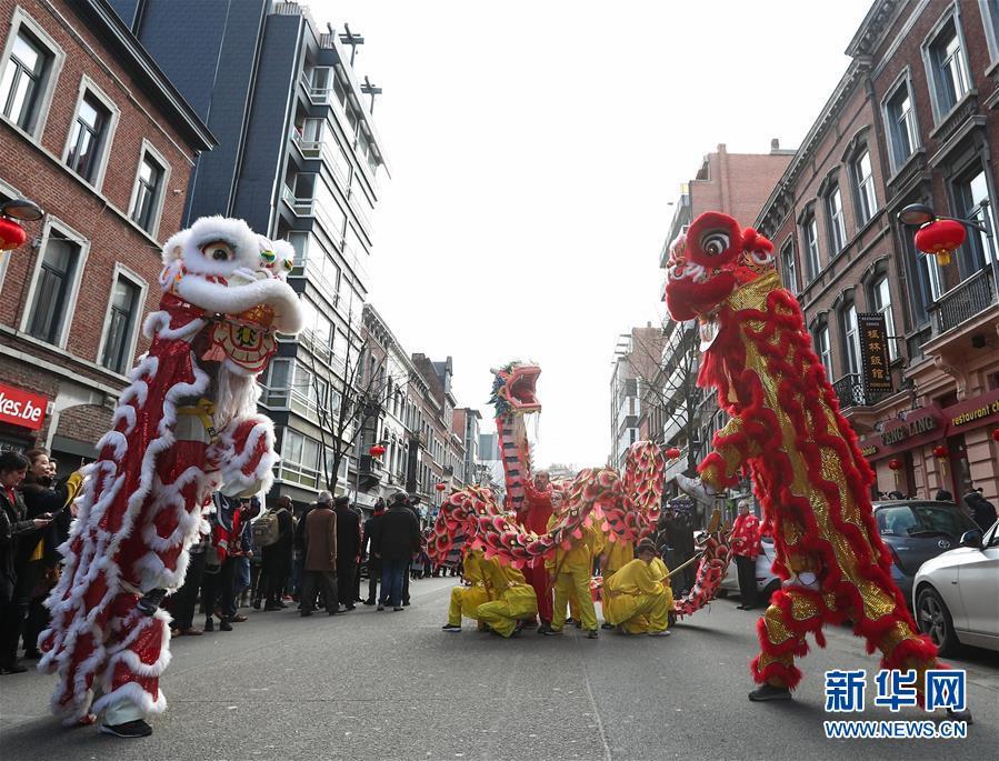 """(国际)(14)比利时举办""""欢乐春节""""农历新年庆祝活动"""