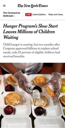 """最富国家儿童竟在挨饿!美""""粮票""""计划难饱苦"""