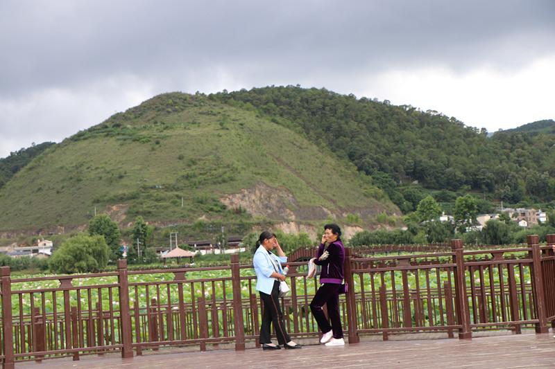 7月3日,在山邑社区野鸭湖湿地公园,游客依兰拍照.JPG.JPG