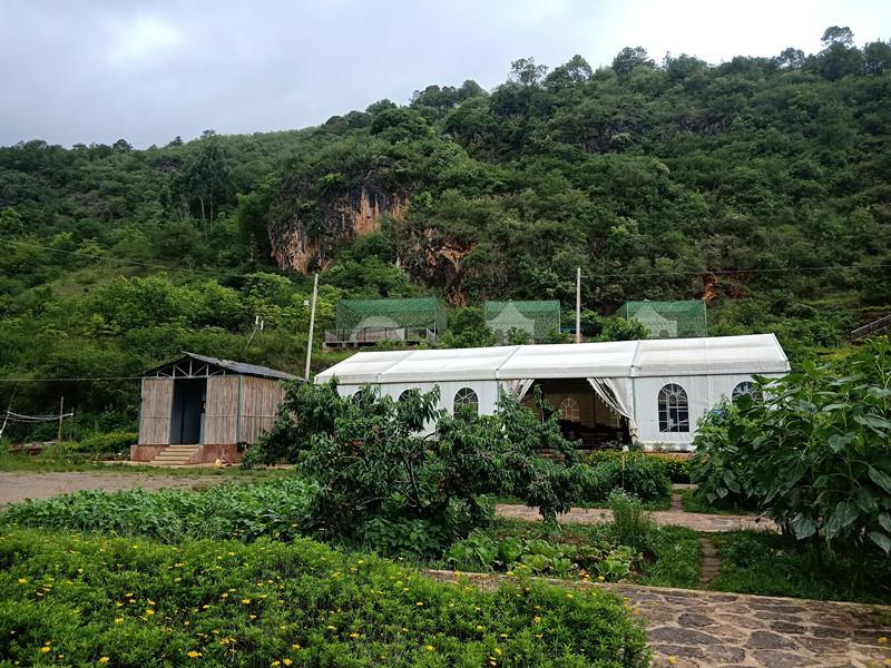 7月3日,雨水过后的火仙山温泉帐篷酒店电商旅游服务中心生机盎然.jpg