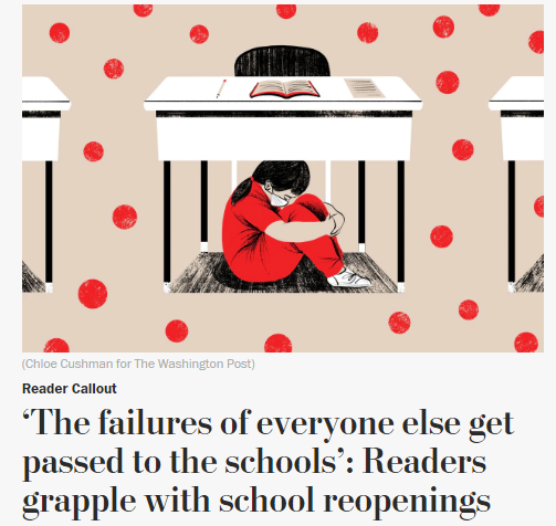 """美国学校陷入""""开学困局"""" 老师致信美媒:我们想活下去 - 原创 - 海外网"""