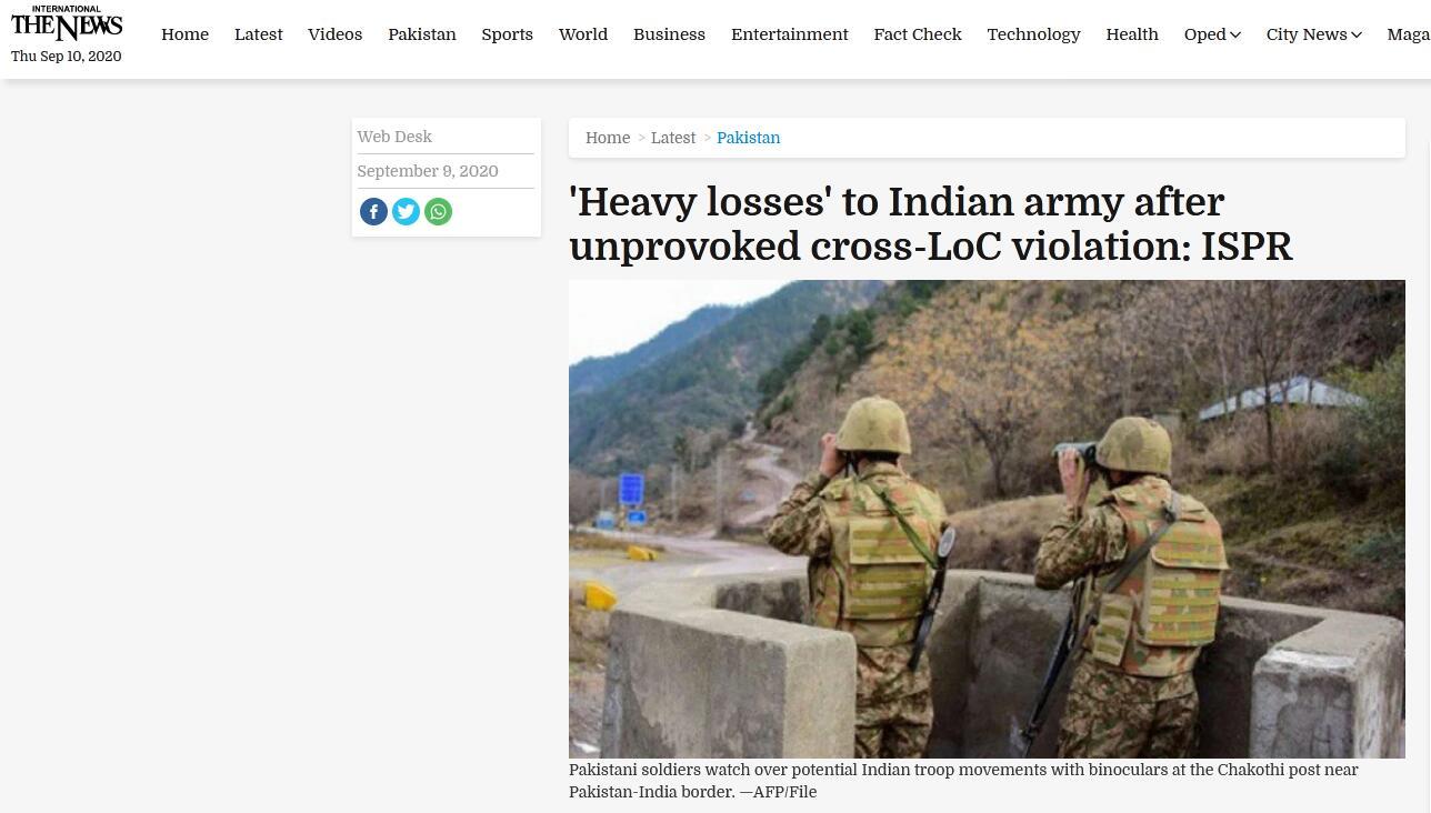 印巴激烈交火!巴军方:造成敌方人员与物资重大损失 - 资讯 - 海外网