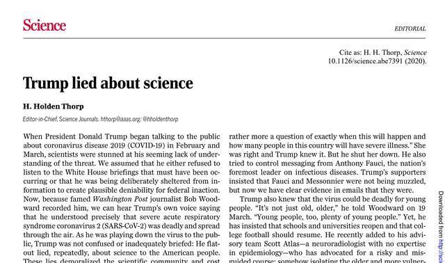 """美国科学杂志投稿_海外网评:这可能是美国""""科学政策史上最耻辱时刻""""-理论评论 ..."""