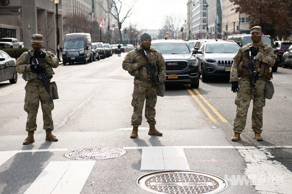 拜登就职典礼前的美国首都 街头空荡荡戒备森严