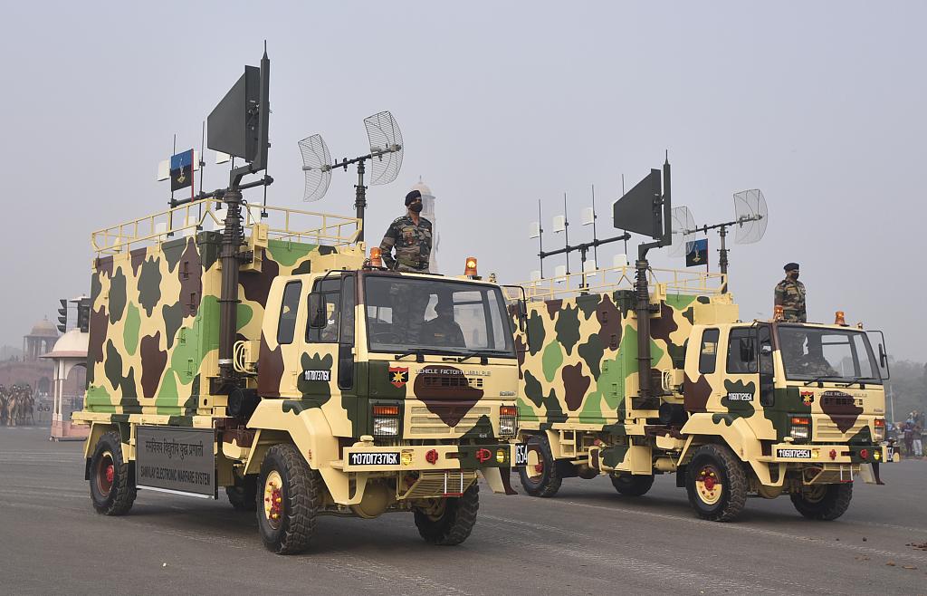 印度共和国日阅兵即将到来 新德里士兵进行彩排准备