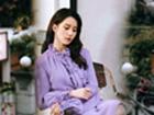 刘诗诗紫裙变氛围感美女