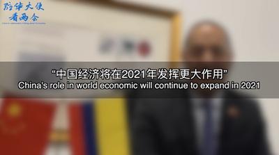 """【驻华大使看两会】""""2021年中国经济将发挥更大作用"""""""