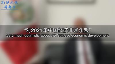 """【驻华大使看两会】""""对2021年中国经济非常乐观"""""""