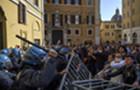 意大利餐饮业者举行抗议