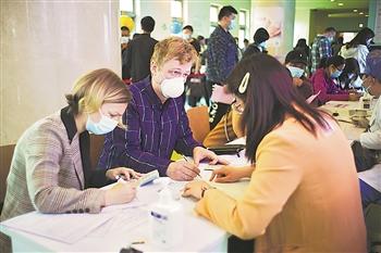 北京:外籍人士新冠疫苗接种工作有序进行