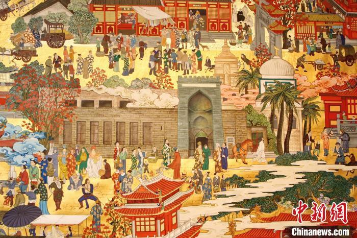 画卷中描绘了多处世界文化遗产点。图为清净寺。 李莹 摄