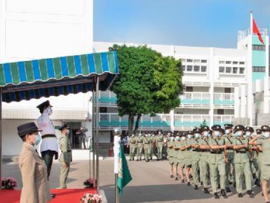 香港海关以全中式步操举行结业会操开创纪律部队先河