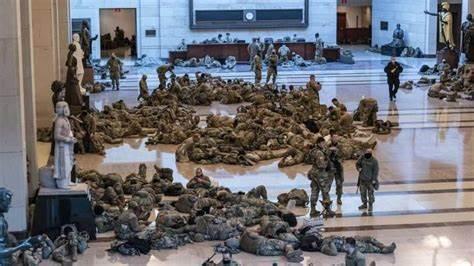 2.5万美士兵将前往首都进行安保:没接受新冠检测 只量体温