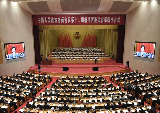浙江省政协十二届四次会议。张茵 摄