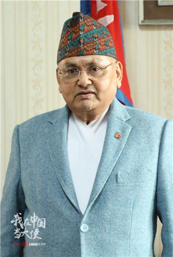 尼泊尔驻华大使马亨德拉·巴哈杜尔·潘迪(付勇超 摄影)_副本.png