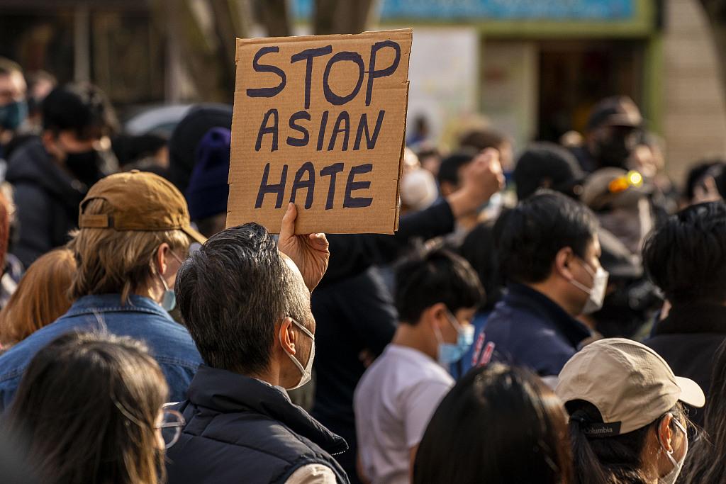 美国民众上街游行抗议针对亚裔群体的种族歧视仇恨犯罪行为 CFP.jpg
