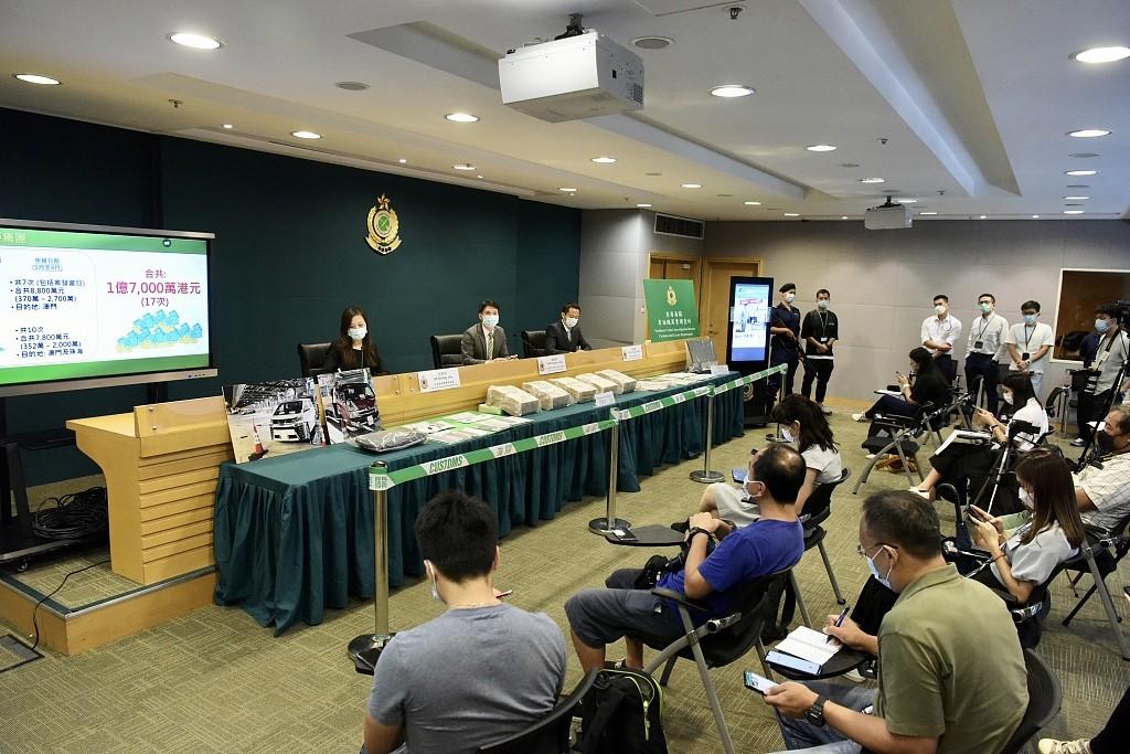 香港海关首次侦破跨境车司机协助洗黑钱案 涉及1.7亿港元