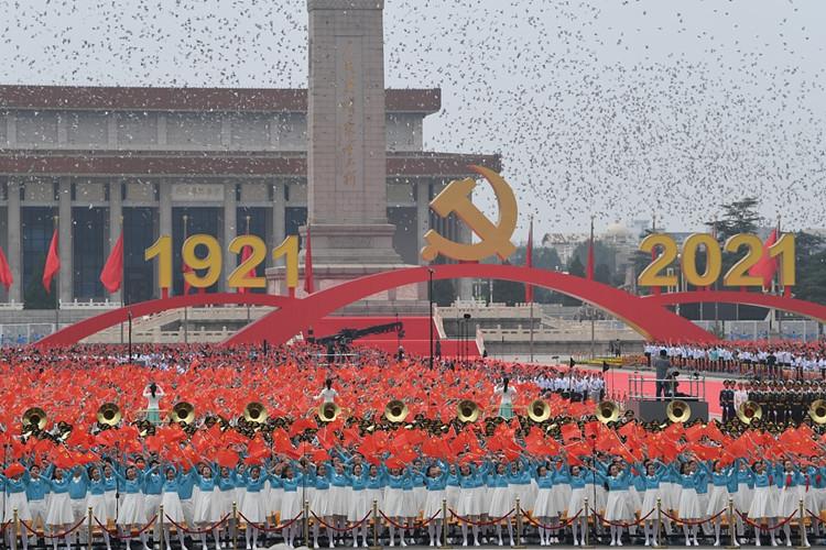 庆祝中国共产党成立100周年大会在北京天安门广场隆重举行。图源:人民视觉。_副本.jpg