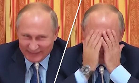 """有网友说,""""普京肯定乐坏了"""""""