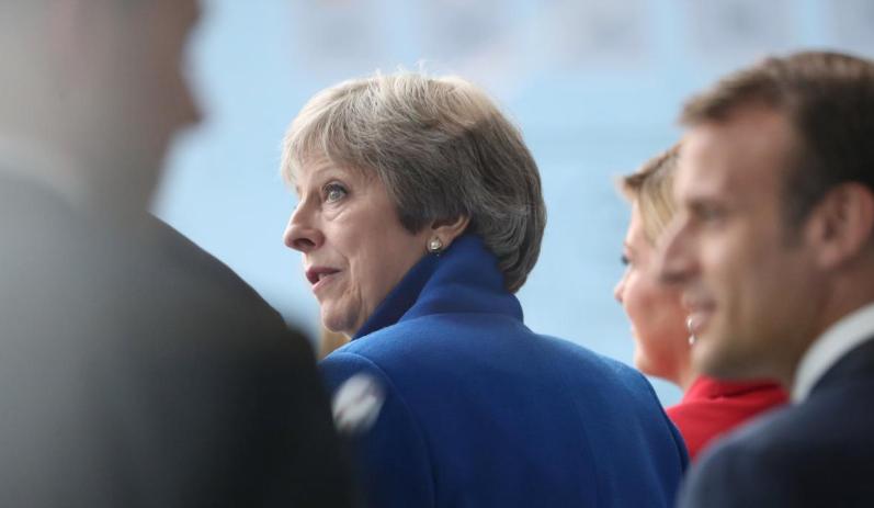 图为英国首相特蕾莎·梅