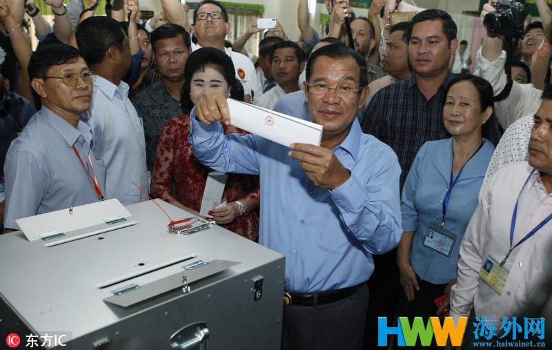 洪森领导的人民党赢得柬埔寨国会选举 再获执政权