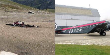 一架二战德军运输机在瑞士坠毁 机上20人遇难