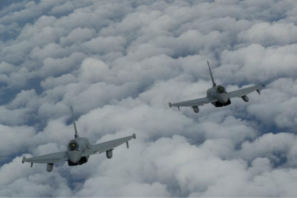 """欧洲""""台风""""战机资料图。"""