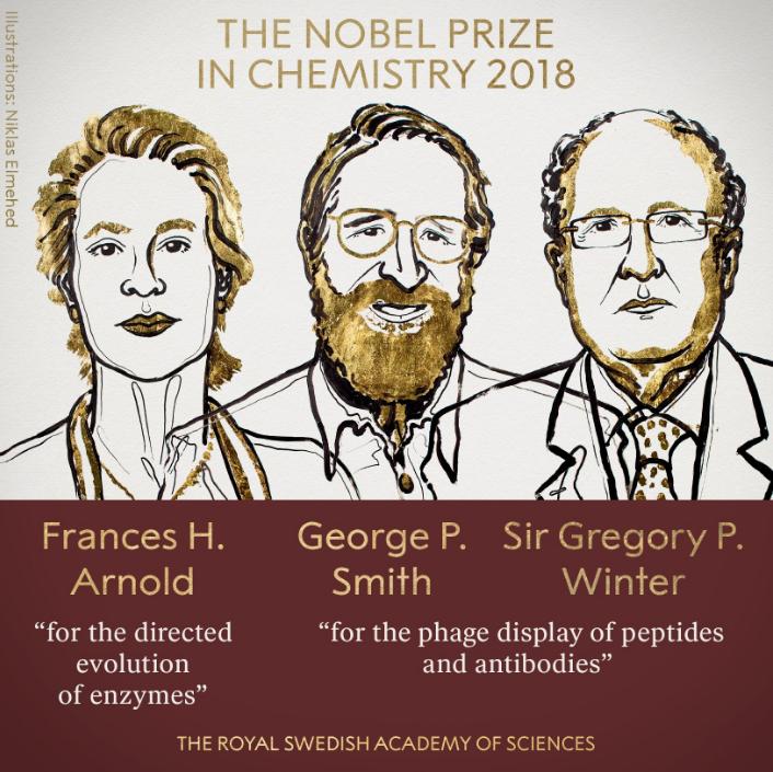 2018诺贝尔化学奖揭晓 三名科学家共享殊荣