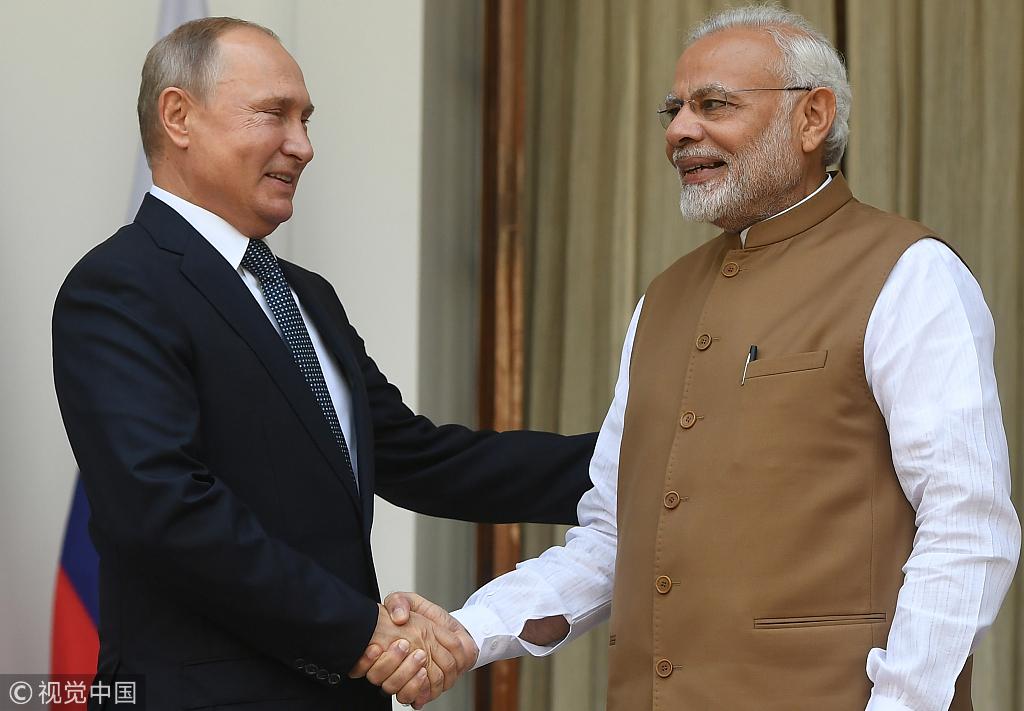 俄罗斯总统普京和印度总理莫迪
