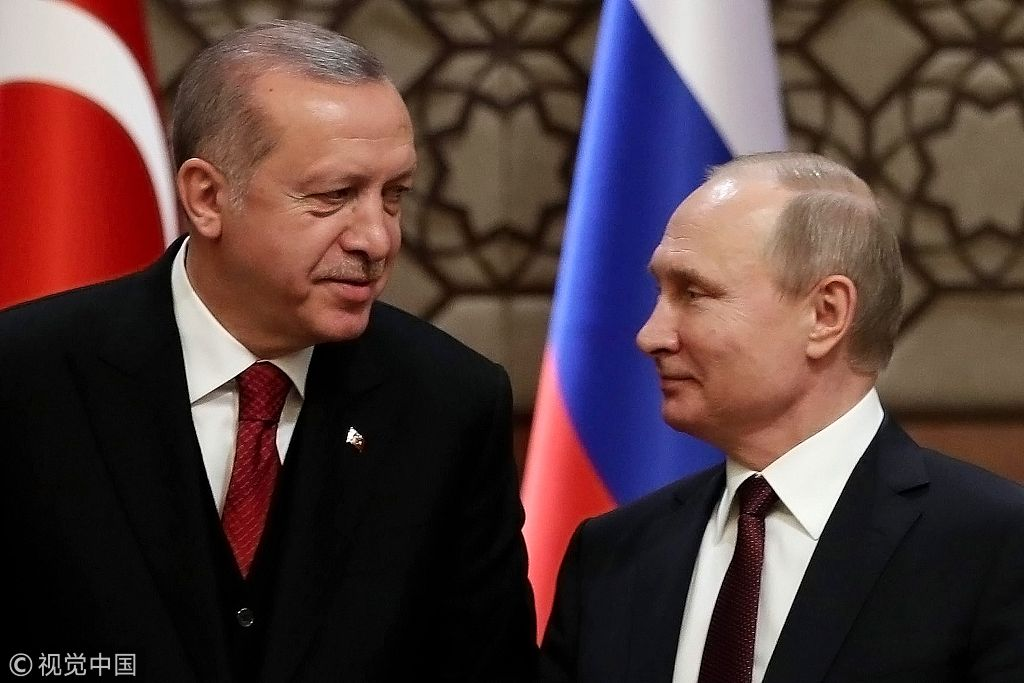 土耳其总统埃尔多安和俄罗斯总统普京
