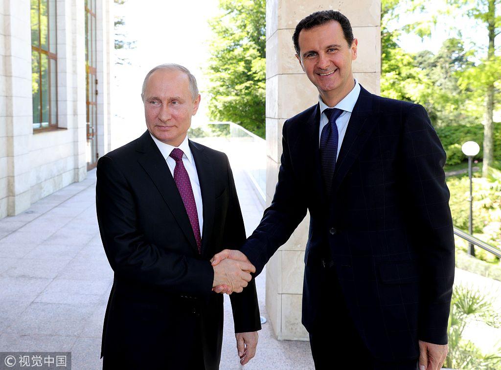 叙利亚总统巴沙尔·阿萨德与俄罗斯总统普京