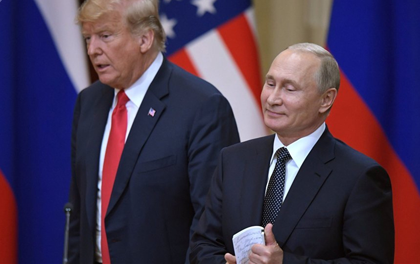 特朗普和普京 (图源:俄罗斯卫星通讯社)