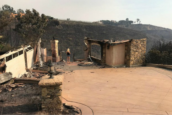 澳大利亚导演尼尔·约翰逊与女友特雷西·伯德桑尔的房子被大火烧毁。