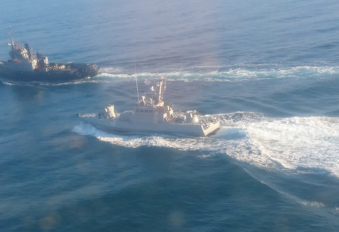 俄媒:三艘乌克兰军舰不顾警告 穿越俄罗斯边境