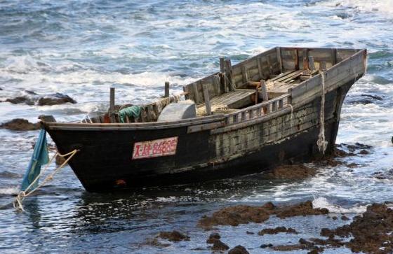 漂到日本沿岸的木制船只