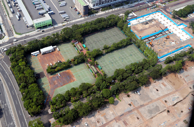 资料图:有明网球之森公园(朝日新闻)