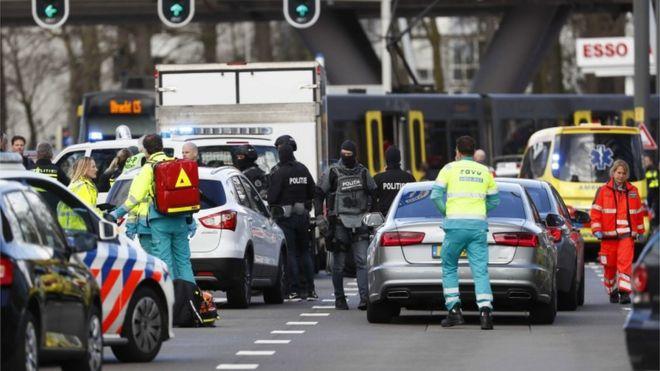 """荷兰枪击案致1死多伤 """"几处地点""""均发生枪击事件"""
