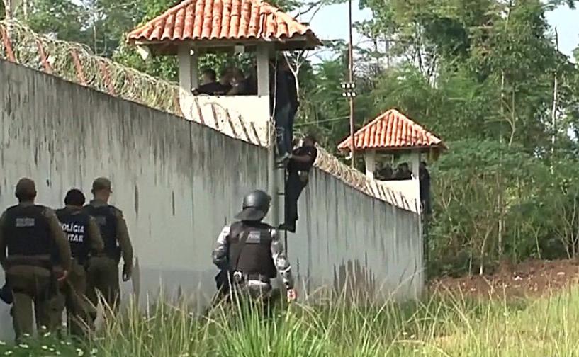 巴西监狱帮派互斗致52死:16人遭斩首,其余人被烧死