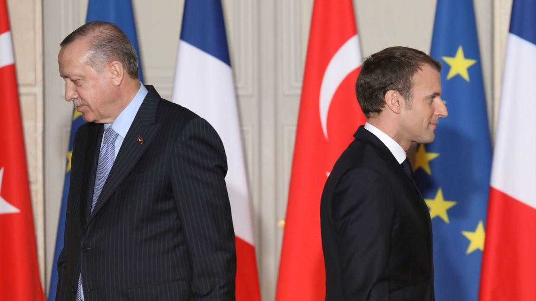 土耳其总统埃尔多安和法国总统马克龙(图:路透社)