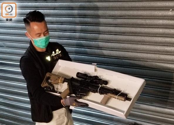 警方缴获长距离步枪(图源:东网)